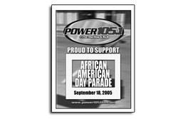 Power 105.1 African American Day Parade Sign