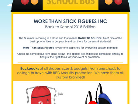 It's Back to School time!