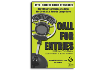 AIR (Achievement in Radio) Awards Poster