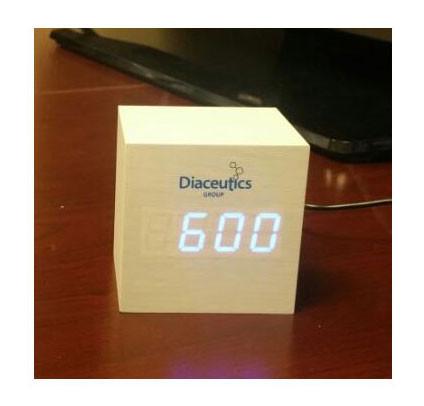 wood look digital clock