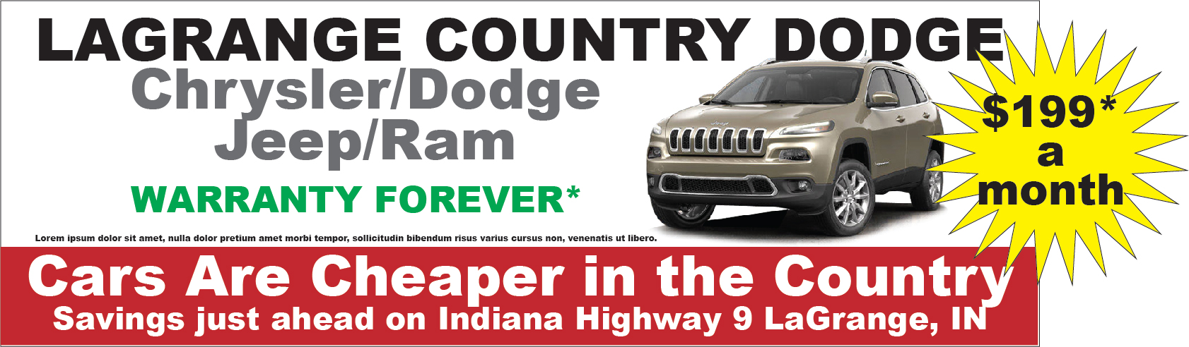 LaGrange Auto Dealer Outdoor Billboard