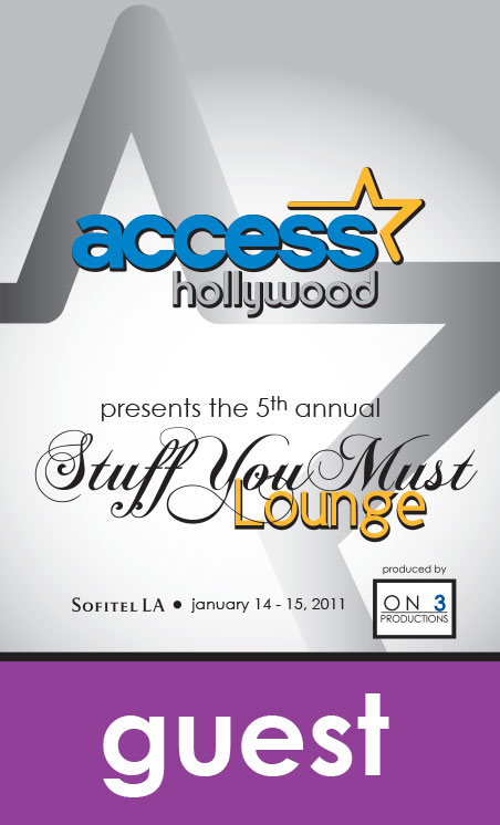 Access Hollywood Celebrity Gift Lounge Credentials
