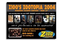 Z100's Zootopia 2004 WB Magazine Ad
