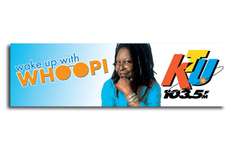 KTU Whoopi Goldberg Outdoor Billboard