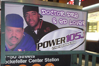 Power 105.1 MTA Signage