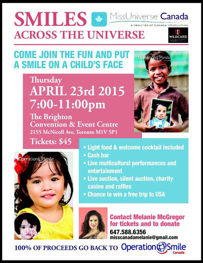 Smiles Across the Universe Fundraiser- YOU'RE INVITED- April 23, 2015