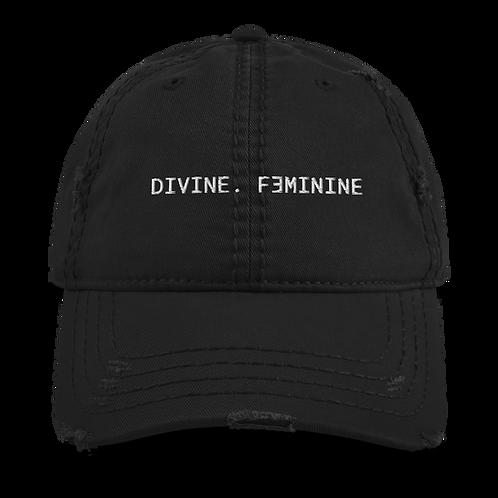 DIVINE. FEMININE Distressed Dat Hat