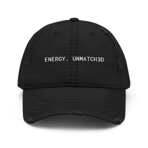 ENERGY.  UNMATCHED Distressed Dad Hat