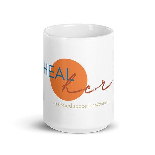 HealHER Logo White Mug (15 oz)