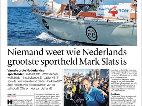 """AD: """"Niemand weet wie Nederlands grootste sportheld Mark Slats is"""""""