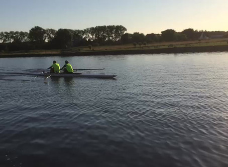 First training together on the water