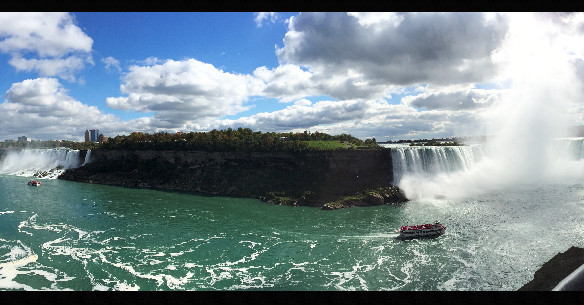 My Pano-view of Niagara Falls