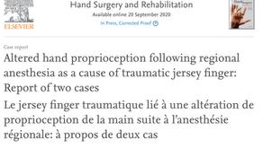 Article dans Hand Surgery and Rehabilitation