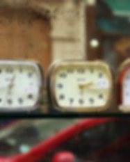 Clocks on Shelf
