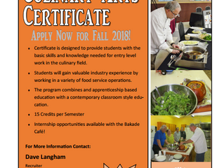 LET'S GET COOKING!!!! NEW CULINARY PROGRAM!