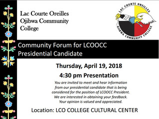 Community Forums for LCO College Presidential Candidate Presentations