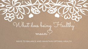 What does being 'healthy' mean?