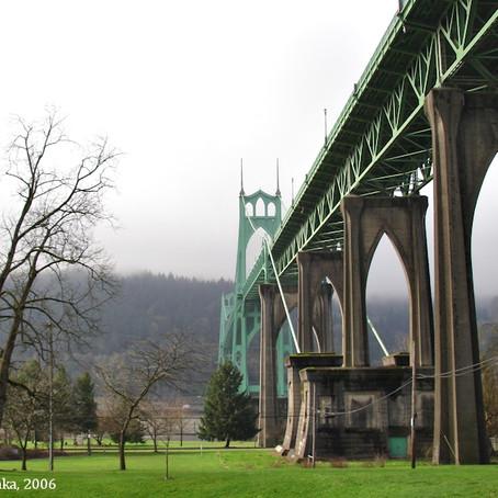 St. John Bridge: il ponte che sognava di essere una cattedrale
