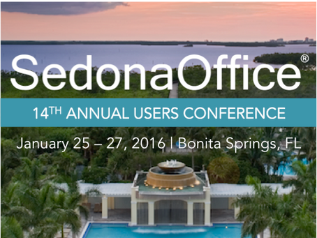 SedonaOffice Users Conference 2016