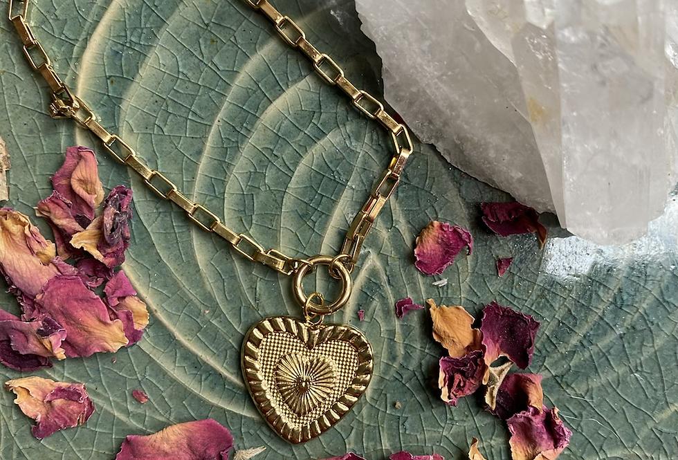 HeaRt of SaNta MuerTe Bracelet gold