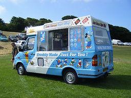 Carnival ices Vintage Ice Cream Van Hire 80s