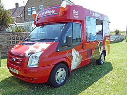 modern Carnival ices Vintage Ice Cream Van Hire