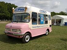 Vintage ice cream van, Bedford