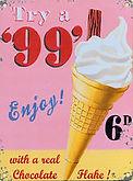 Vintage Ice Cream Sign Logo