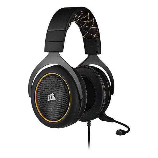 CORSAIR HS60 PRO SURROUND Gaming Headset — Yellow