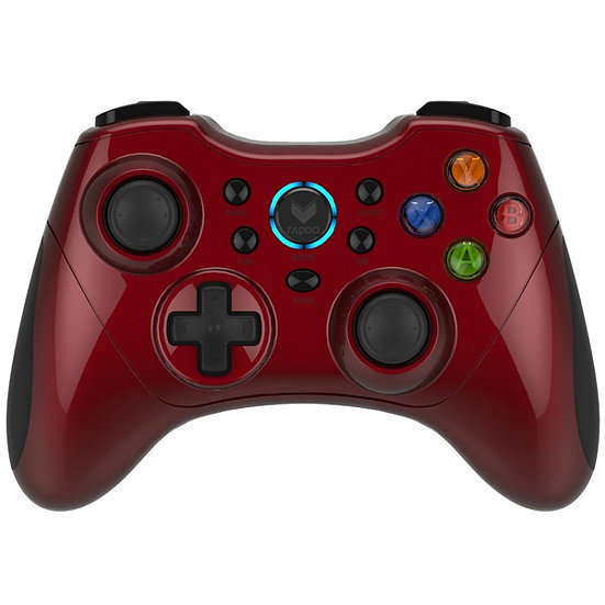 RAPOO V600S Wireless Electric Vibration Gamepad - RED