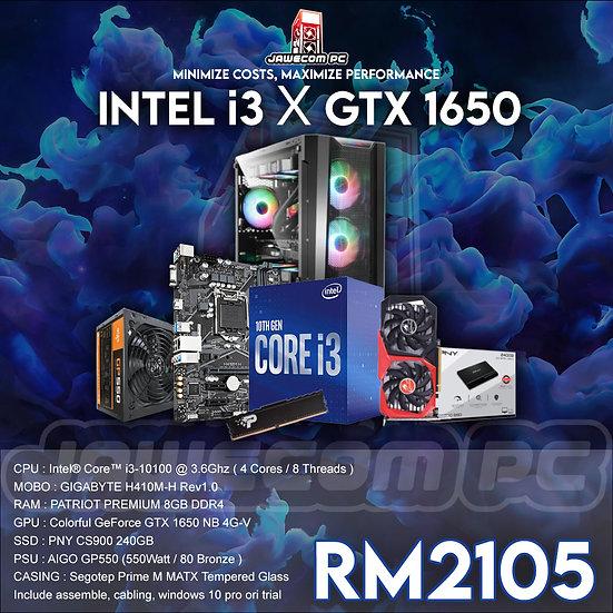 INTEL i3 X GTX 1650