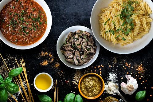 Beef Bolognese Pasta with Garlic Mushroom Box