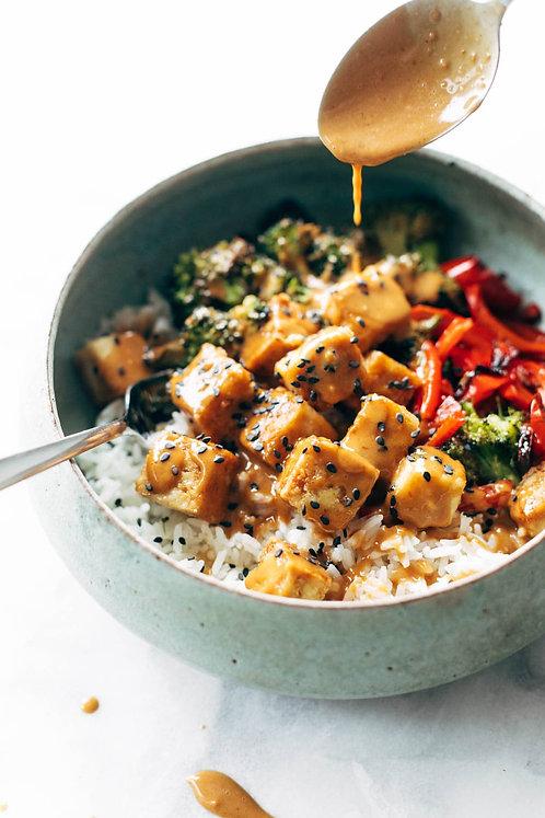 Yakiniku Stir-Fried Tofu & Brown Rice