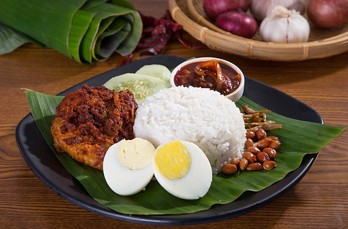 Nasi Lemak with Brown Rice