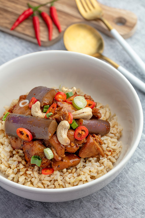 Gong Bao Chicken with Brown Rice