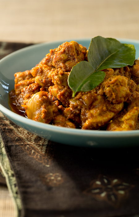 Rendang Chicken with Brown Rice