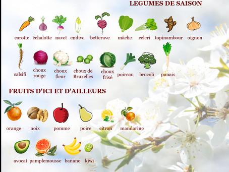 Fruits et légume de mars
