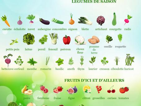 Fruits et légumes d'août.