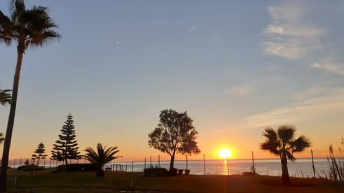 Sunrise from our urbanization