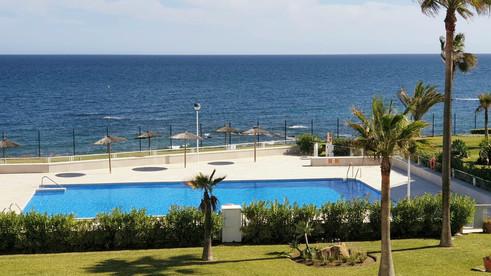 Second pool on Casares del Mar urbanization