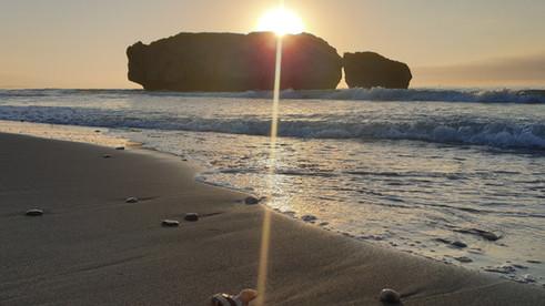Sunrise over Casares playa