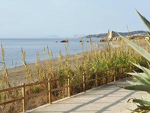 Casitamar by Casares playa and walkway (