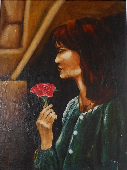 "Texas Rose - Original oil on board 12"" x 16"""