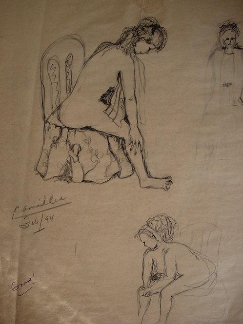 Camilla- original - pencil on paper