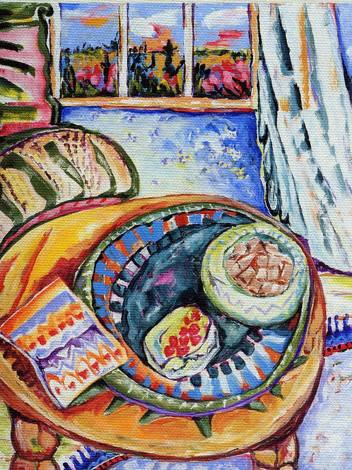 Original - Table and Chair- acrylic on canvas