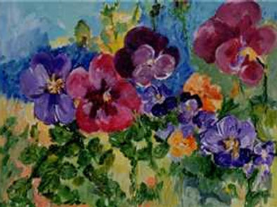 Nature Series -Pansies-SOLD-prints only available