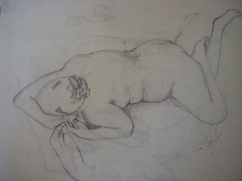 Kim Life Drawing - original - pencil on paper