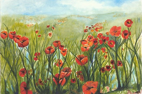 Poppies of The Field-SOLD-prints only available