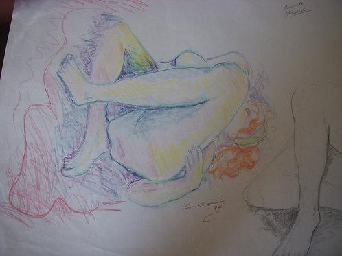 Claudel- Life Drawing - original - pencil on paper