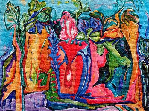 """Original - Visage- 30"""" x 40"""" - Acrylic on Canvas"""